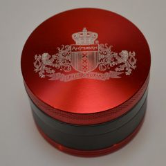 55MM 4P Grinder Red with Amsterdam Logo