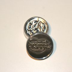 38mm 2p Paradise Seeds Grinder Logo Silver