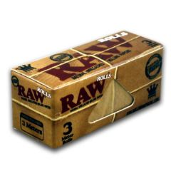 RAW rolling papers ROLLS 3 - meter. Natural Unrefined Hemp.