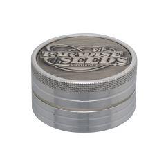 50mm 2p Paradise Seeds Grinder Logo Silver